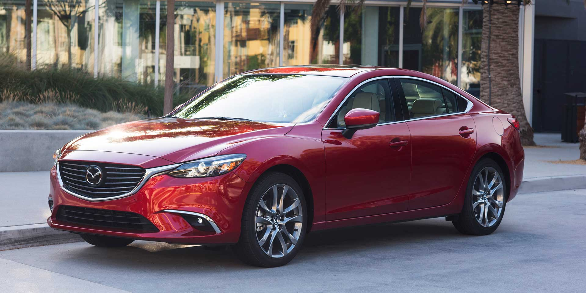 2017 Mazda 6 Sleek And Stylish The Is A Five Seat Four Door Mid Size Sedan That Competes Against Vehicles Like Ford Fusion Honda Accord